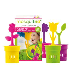MosquitNo Dekoratívne kvetináč uvoľňujúce citronelovú vôňu 1ks