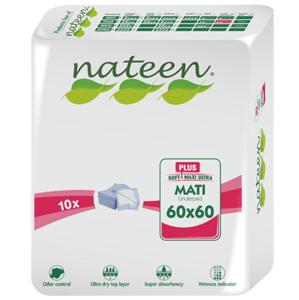 Nateen,Inkontinenčná podložka Mati Plus M,60x60,10ks