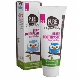 Pure Beginnings Zubná pasta pre bábätká bez fluoridu, malinová príchuť 75ml