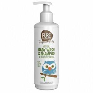 Pure Beginnings Upokojujúce tekuté mydlo a šampón s Baobabom BIO pre bábätká 250ml