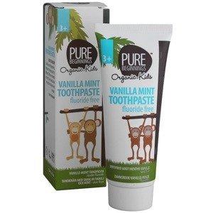 Pure Beginnings Zubná pasta pre deti, bez fluoridu, vanilkovo-mätová príchuť 75ml