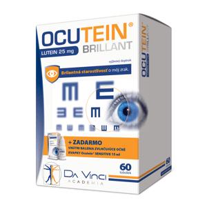 OCUTEIN BRILLANT Luteín 25 mg - DA VINCI cps 60 + očné kvapky OCUTEIN Sensitive 15 ml zadarmo