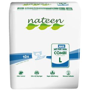 Nateen,Plienky inkontinenčné Inko Combi Maxi L,10ks