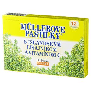 MÜLLEROVE PASTILKY S ISLAND. LIŠAJNÍKOM A VIT. C 12 ks