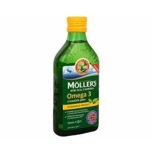 MOLLER´S Omega 3 RYBÍ OLEJ Citrónová príchuť z pečene tresiek 250ml