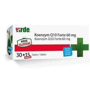 VIRDE KOENZYM Q10 Forte 60 mg tbl 30+15 zdarma