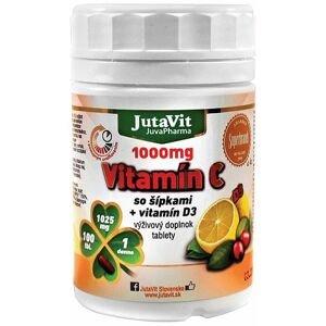 JutaVit Vitamín C 1000 mg so šípkami + vitamín D3 tbl 1x100 ks