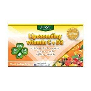 JutaVit Lipozomálny vitamín C + D3 s bioflavonoidmi a extraktmi zo šípok a aceroly tbl 1x60 ks