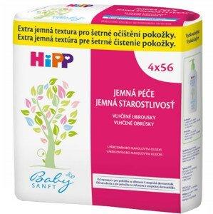 HiPP BabySANFT Čistiace vlhčené obrúsky Economy pack 4x56ks