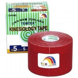 TEMTEX KINESOLOGY TAPE tejpovacia páska, 5 cm x 5 m, červená