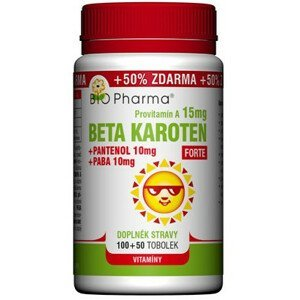 BIO Pharma Beta karotén 15 mg FORTE 100+50cps