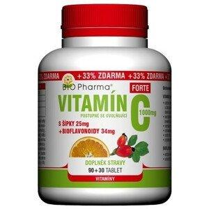 BIO Pharma Vitamín C so šípkami 1000 mg FORTE 90+30tbl