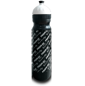 Športová fľaša PROM-IN 1000ml - s uzáverom čierna