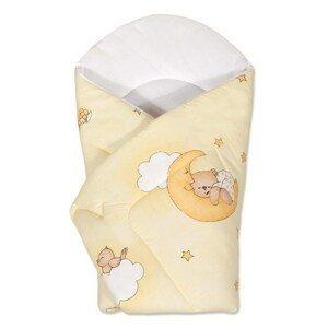 New Baby Detská zavinovačka žltá s medvedíkom