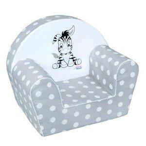 New Baby Detské kreslo Zebra sivé