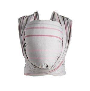 Šatka Womar na nosení detí Be Close v Eko krabici ružovo-sivá