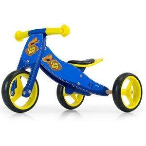 Detské multifunkčné odrážadlo bicykel Milly Mally JAKE blue Cowboy