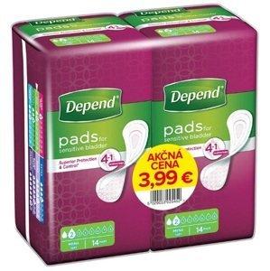 Depend Mini inkontinenčné vložky 9x24 cm savosť 185ml 2x14 ks