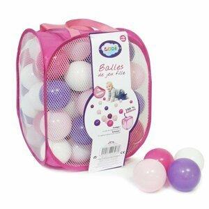 Loptičky ružové / fialové 75 ks