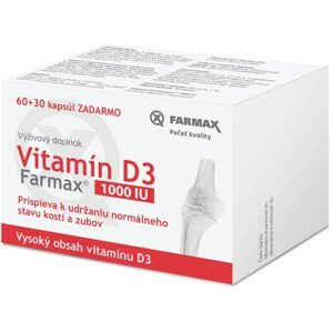 FARMAX Vitamín D3 1000 IU 60+30cps zadarmo