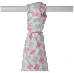 XKKO BMB 90x100 - Scandinavian Baby Pink Cross