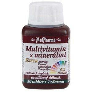 MedPharma Multivitamín s minerálmi extra 42 zložiek 30+7tbl zadarmo