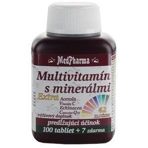 MedPharma Multivitamín s minerálmi extra 42 zložiek 100+7tbl zadarmo