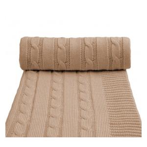 Pletená deka, béžová 80 x 100 cm