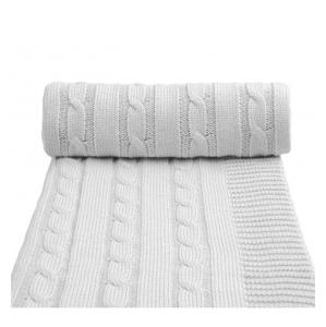 Pletená deka, šedá 80 x 100 cm