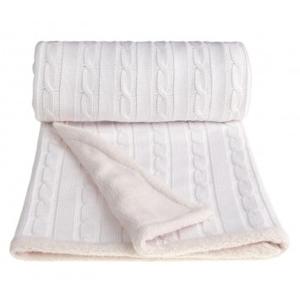 Pletená deka winter, biela 80 x 100 cm