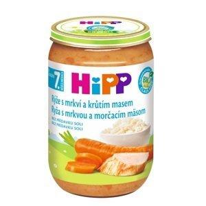 HiPP Prikrm BIO Ryža s mrkvou a morčacím mäsom nová receptúra 2017 220g