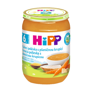 HiPP Polievka BIO Kuracia s pšeničnou krupicou 190g
