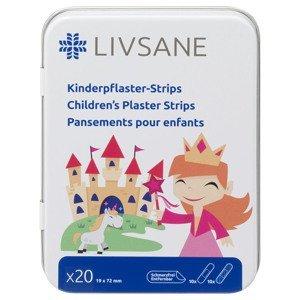 LIVSANE Náplasť detská prúžky Princezná 19x72mm 20ks