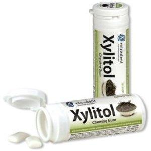 Miradent Xylitol žuvačky Zelený čaj 30ks