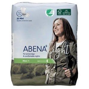 ABENA Abri Light Mini absorpčné vložky, priedušné, savosť 200 ml 20 ks