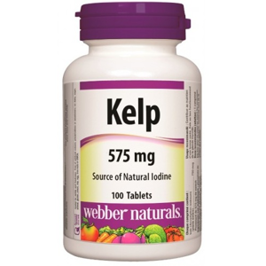 Webber Naturals Kelp Jod 575mg 100tbl