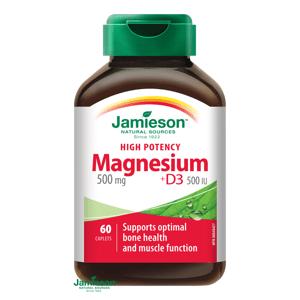 Jamieson Horčík 500mg s vitamínom D3 500IU 60 tabliet