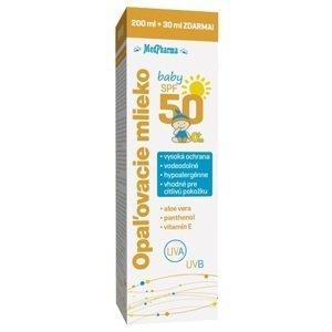 MedPharma Opaľovacie mlieko baby SPF50 pre deti 200+30ml