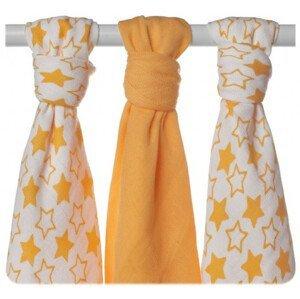 XKKO BMB 70x70 - Little Stars Orange MIX 3ks