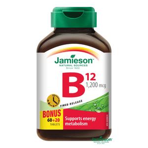 Jamieson Vitamín B12 1200μg s postupným uvoľňovaním 80 tabliet