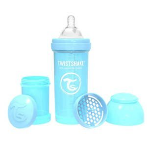 Twistshake Dojčenská fľaša Anti-Colic 260ml (cuml.M) Pastelovo modrá