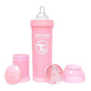 Twistshake Dojčenská fľaša Anti-Colic 330ml (cuml.L) Pastelovo ružová
