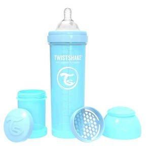 Twistshake Dojčenská fľaša Anti-Colic 330ml (cuml.L) Pastelovo modrá