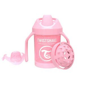 Twistshake Dojčenskčiaci 230ml 4+m Pastelovo ružová