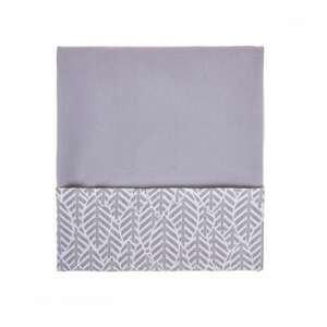 Womar Velvet Detská obojstranná deka 75x100cm sivá