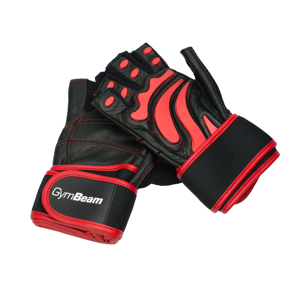 Fitness Rukavice Arnold - Gym Beam unflavored - black - red - L