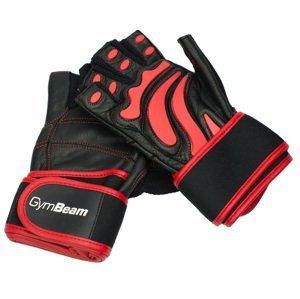 GymBeam Fitness Rukavice Arnold fudge brownie black-red XXL