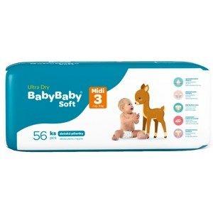 BabyBaby Soft Ultra-Dry Midi 4-9 kg, 56ks