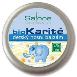 Saloos bioKarité detský nosový balzam ošetrenie sliznice nosa pri nádche a prechladnutí,1x19 ml