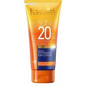 Eveline Cosmetics SunCare Vodeodolné mlieko na opaľovanie SPF20, 200ml